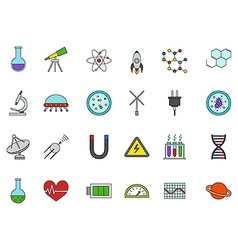 Science colorful icons set vector image vector image