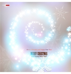 snowflakes and p vector image vector image