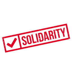 Solidarity rubber stamp vector