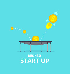 start up in flat style income and success vector image vector image