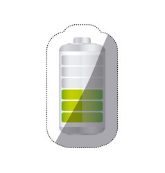 Sticker battery symbol with level medium charge vector