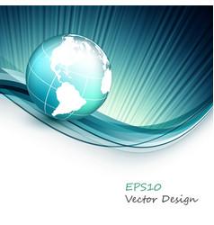 Wavy design elements vector