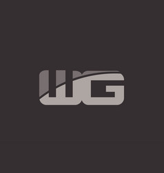 Wg w g alphabet letter logo icon template company vector