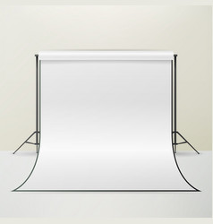 White photo studio realistic photographer vector