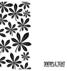 winter leaf vector image vector image