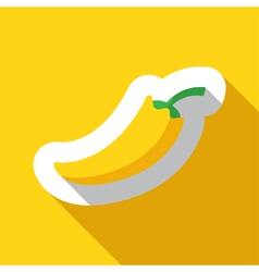 Yellow paprika and shadow vector