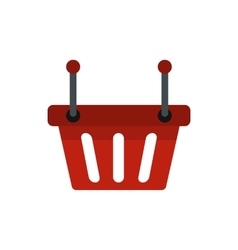 Shopping basket icon flat style vector