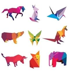 origami paper animals vector image