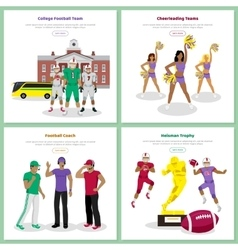 Set of american football conceptual web banners vector