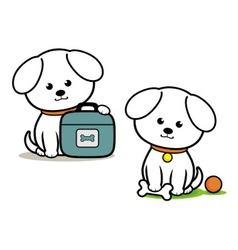 Little white dog vector