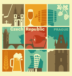 Traditional symbols of the czech republic vector