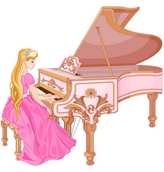 Princess playing the piano vector