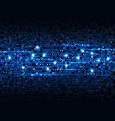 Blue circuit board background design vector