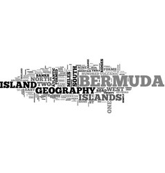 Bermuda geography text word cloud concept vector