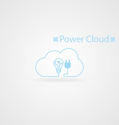 Power cloud logo vector
