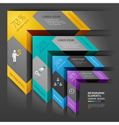 3d arrow staircase diagram business template vector image