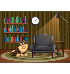 Dog and living room vector