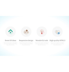 Set of flat design concept icons vector