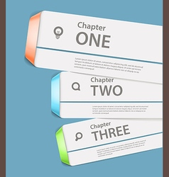 Website paper page design template vector image