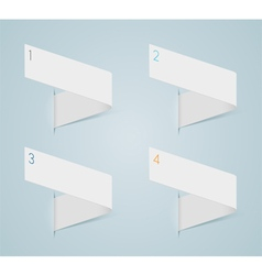 Infographic 3d numbered step ribbons 1 vector