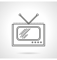 Flat line tv icon vector