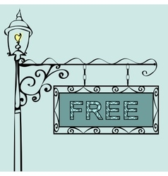 Free text on vintage street sign vector