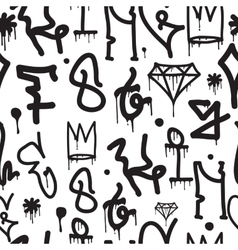 Graffiti background seamless pattern vector