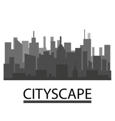 Buildings silhouette cityscape vector image