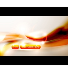 Abstract orange wave vector image vector image