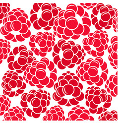 abstract raspberries vector image vector image