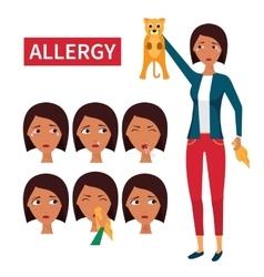 Allergy symptoms information vector image