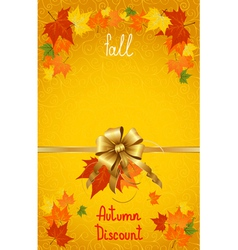 Autumn fall discount on yellow vector image vector image