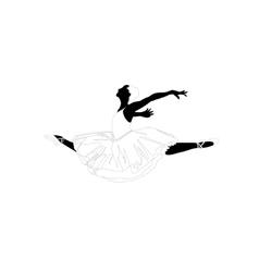 Ballerina in a jump vector