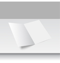 Blank empty magazine or book template vector image