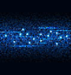 blue circuit board background design vector image