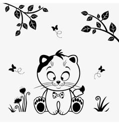 Cat cute vector