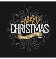 Christmas greeting on hand drawn background retro vector