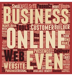 Does Every Business Need A Web Presence text vector image vector image