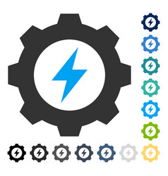 Electric energy gear icon vector