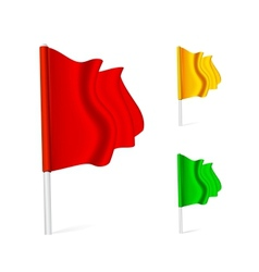 Flag fluttering in the wind vector image vector image