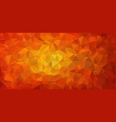 flat design red triangle background vector image vector image