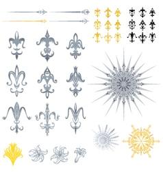 fleur de lis designs vector image