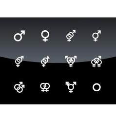 Gender symbol on black background vector image vector image