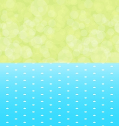 green background boken and blue tablecloth with vector image