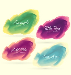 ink watercolor stain design vector image vector image