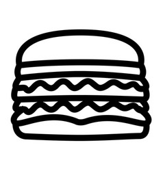 isolated hamburger icon vector image vector image