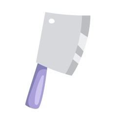 Kitchen ax knife cleaver cutter with handle sharp vector