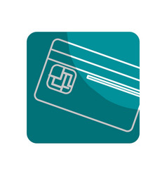 Logotype credit card to save money in the bank vector