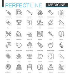 Medical and healthcare thin line web icons set vector
