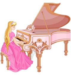 Princess playing the piano vector
